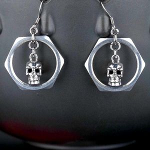 925 Skull Earrings